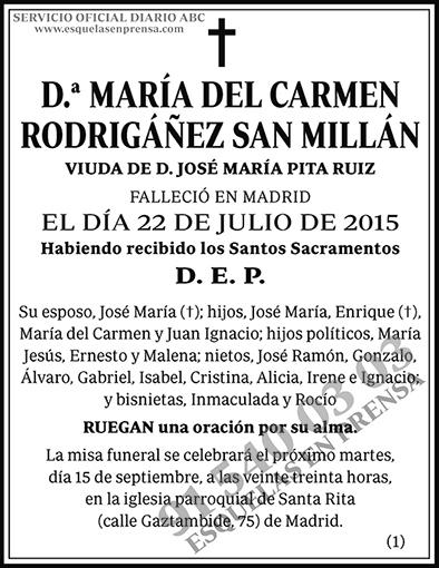 María del Carmen Rodrigáñez San Millán